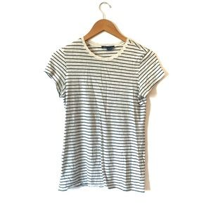 Vince Pima Cotton Striped T-Shirt Size Medium